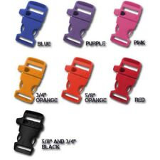 "Paracord Planet 3/4"" (19mm) Whistle Buckles With Side-Release- Various Colors"