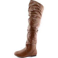 DailyShoes Vickie-Hi Over the Knee Thigh High Boots PU