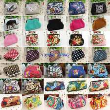 Retro Women Small Wallet Coin Change Purse Girls Hasp Clutch Card Holder Handbag