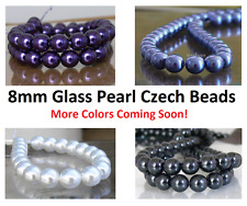 8mm Round Glass Pearl Czech Beads 20 Choose New Arrivals