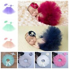 Cute Baby Girl Infant Tutu Skirt & Flower Headband Photo Props Outfit Costume