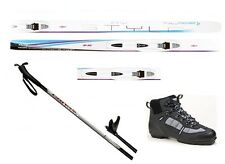 NEW FISCHER MY STYLE cross country NNN SKIS/BINDINGS/BOOTS/POLES PACKAGE - 159cm