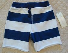 First Impressions Boys' Blue White Striped Jersey Shorts Size 12M 24M NWT