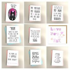 "7X5"" ENJOYED ANNOYING MUM Mother's Day Card Mum Birthday card mothers Day mum"