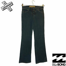 BILLABONG 'ZIMA' WOMENS JEANS VINTAGE BLACK LACE FLY TROUSERS UK 8 BNWT RRP £60