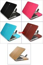 Full Body Protect Flip Magnet Leather Sleeve Case Cover Pouch Bag for Macbook