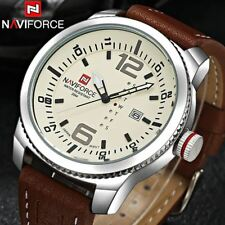 Mens Watches Top Brand Luxury Quartz Watch Mens Hour Date Clock Leather Strap Fa