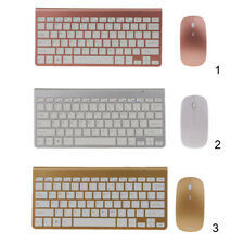 Aluminum Alloy Wireless Compact Keyboard and Mouse 2.4GHz for Computer