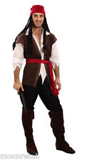 PIRATE MAN Caribbean Complete Fancy Dress Costume Outfit Jack Sparrow