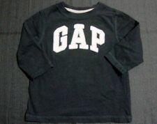 Baby Gap Baby Boys Long Sleeve Black Crew Neck T Shirt Size 18-24 Months