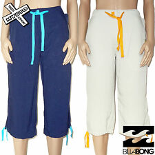 BILLABONG 'CRUSHER' WOMENS 3/4 TROUSERS CAPRI NAVY STONE S UK 8 BNWT RRP £50