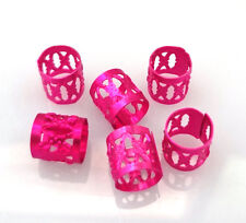 Rose Red Hollow Charm Spacer Beads Metal Spacer Tube Jewelry Finding 8x9MM