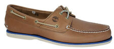 Timberland 2-Eye Classic Leather Brown Lace Up Mens Boat Shoes A16M8 T4
