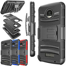 Shockproof Armor Holster Stand Case Cover for Motorola Moto Z Force / Play Droid