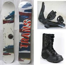 "NEW TRANS ""PREMIUM WHITE"" SNOWBOARD, BINDINGS, BOOTS PACKAGE - 146cm, 151cm"