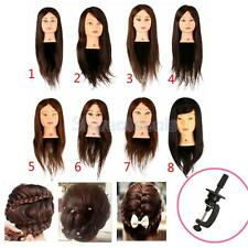 Synthetic Hair Human Hair Salon Hairdressing Training Cosmetology Mannequin Head