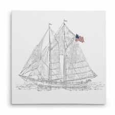 Wexford Home 'Sail Boat Sketch' Drawing Print on Wrapped Canvas