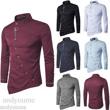 Fashion Men Stylish Casual Formal Slim Fit Shirt Long Sleeve Luxury Dress Shirts