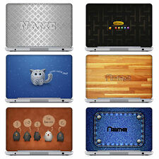Peronalized Laptop Notebook Computer Skin Sticker Decal With Customized Name