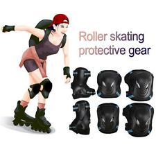 6 in 1 Set BMX Bike Safety Pad Wrist Elbow Pads & Knee Pads Protective Gear Set
