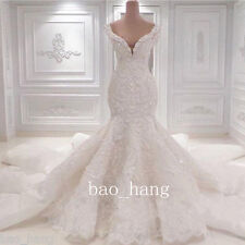 Luxury Mermaid Wedding Dresses Crystal White Ivory Bridal Gown Sleeveless Custom