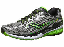 NEW Mens Saucony PowerGrid Ride 7 Running Shoes Silver/Lime/Black MSRP $120