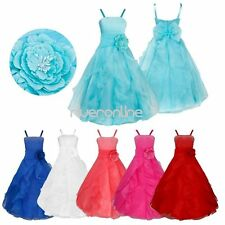 Flower Girls Straps Tutu Dress Wedding Bridesmaid Kid Princess Party Formal Gown
