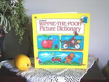 RARE Childs Colden Book 1981 Walt Disneys Winnie-The-Pooh Picture DictionaryMINT