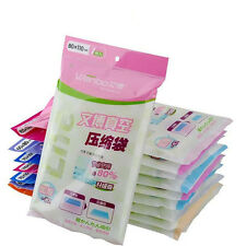 Lot Space Saving Compressed Vacuum Storage Bag Saver Pack Clothes Seal Bags