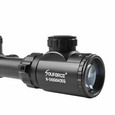 6-24x50 Hunting Rifle Scope AOEG Red Green Dual illuminated Optical Gun Scope US