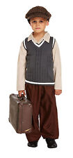 Childs Evacuee Boy WW2 40's 1940's Wartime Fancy Dress Outfit Costume Age 4 - 12