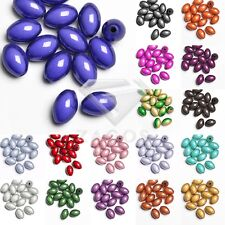 15pcs Acrylic Miracle Rice Beads Illusion Jewellery Craft 14x9.5x9.5mm 18 Colors