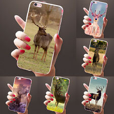 Cute Deer Pattern Case Cover for iPhone 4 5 6 7 7 Plus Samsung Galaxy Little