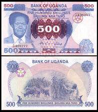 Africa - Uganda 500 Shillings Paper Money,1983,P-22,Uncirculated .1Pieces