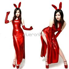 Adult Girls Red Bunny Party Cosplay Womens Costume Halloween Fancy Dress Outfit