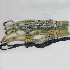 1 One Point Rifle Adjustable Hunting Sling Bungee Tactical Shotgun Strap System