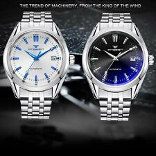 Automatic Strap Date Watch Mechanical Stailess Steel Men's Sport Wrist Military