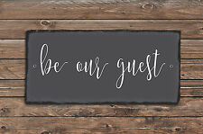 Sassy Squirrel Ink Be Our Guest Slate Wall Décor
