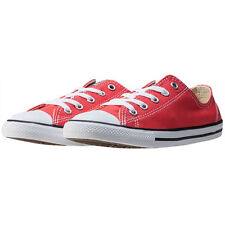 Converse Ctas Dainty Ox Womens Trainers Red Branded Footwear