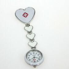 Casual Watch New Fob Heart Brooch Nurse Quartz Pin Stainless Steel Watch GL13