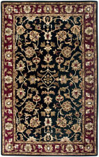 Rizzy Rugs Black Traditional-European Vines Scrolls Area Rug Bordered VO0821