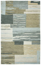 Rizzy Rugs Beige Blocks Squares Cubes Contemporary Area Rug Patchwork LO116A