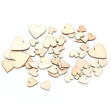 50/100Pcs Mixed Sizes Heart Wood Buttons DIY Scrapbooking Sewing