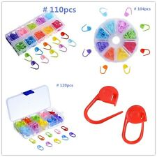 Box & Knitting Weave Plastic Crochet Craft Needle Clip Markers Hook Accessory