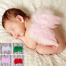 Infant Newborn Baby Feather Angel Wings Photo Props Halloween Costume Clothes