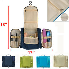 Travel Cosmetic Makeup Bag Toiletry Zipper Wash Organizer Storage Hanging Pouch