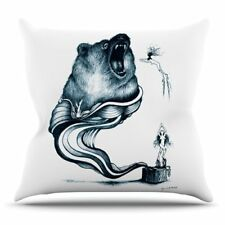 East Urban Home Hot Tub Hunter by Graham Curran Outdoor Throw Pillow