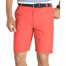 NWT Mens Izod Lightweight Solid Flat Front Microfiber Shorts Baked Apple 34-36