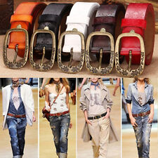 Women Classic Beauty Gift Lady Genuine Real leather Cowhide Pin Buckle Belt HOT!