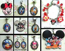 MICKEY MINNIE MOUSE DONALD DAISY DUCK CHARM OR NECKLACE PENDANT LOCKET DISNEY